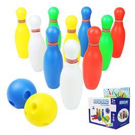 Akokie Birilli Bowling Set Colorato Palla da Bowling Giocattoli Gioco di Sport per 3+ (12 Pezzi )