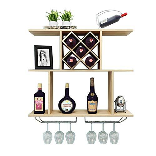 Armadio per vino a parete Moderna e minimalista a forma di diamante Rack per vino Vetrina per...