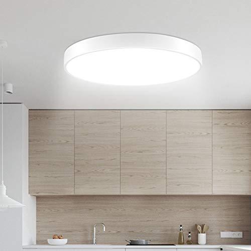 Sararoom LED Deckenlampe, Modern LED Deckenleuchte für Badezimmer, Schlafzimmer, Küche, Balkon, Korridor, Büro, Wohnzimmer, 20W, 1500LM, Ø30cm, Kaltweiß 6000K-6500K [Energieklasse A+]