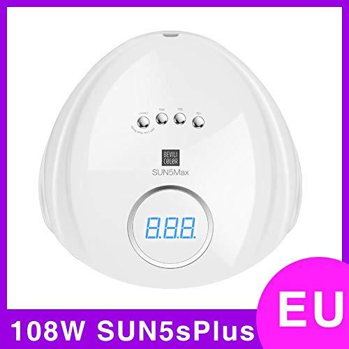kaikki Lampada per fototerapia per Unghie,108W / 72W SUN5sPlus Macchina fototerapica a LED indolore...