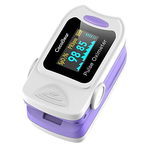 CocoBear Pulsossimetro, Saturimetro da Dito Portatile Professionale, Display OLED per Frequenza Del...