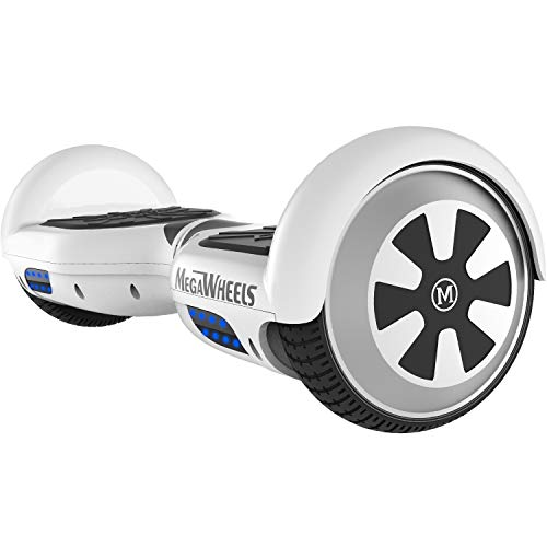 "M MEGAWHEELS Hoverboard 6.5"" Smart Self Balance 500W Motore Scooter con LED e Bluetooth..."