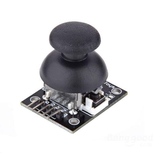 MODULO JOYSTICK RESISTIVO A 2 ASSI X-Y Modulo Joystick analogico resistivo a due assi X-Y con pulsante. Il modulo si può alimentare a 5V e i potenziometri sono da 10Kohm. Le uscite X e Y a risposo forniscono una tensione di 2,5V e variano fin...