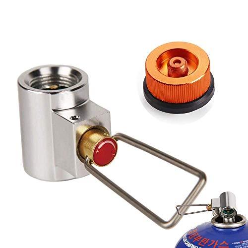 Myhonour Ventilkartusche Gaskonverter Shifter Refill Adapter + Gas Kartuschenkopf Adapter