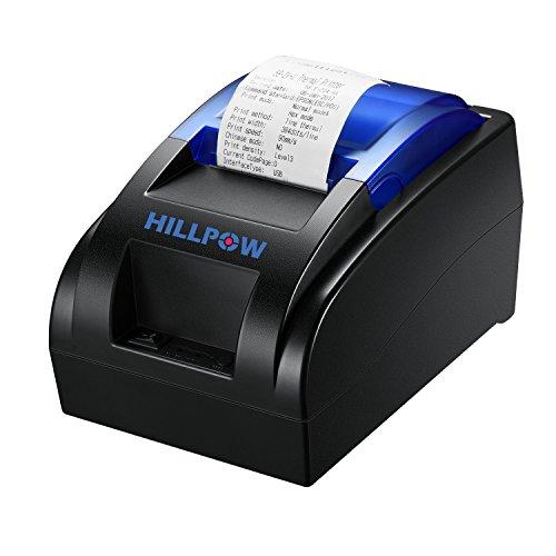 HILLPOW 58MM USB stampante termica, ad alta velocità di stampa 90 millimetri/sec, compatibile con...