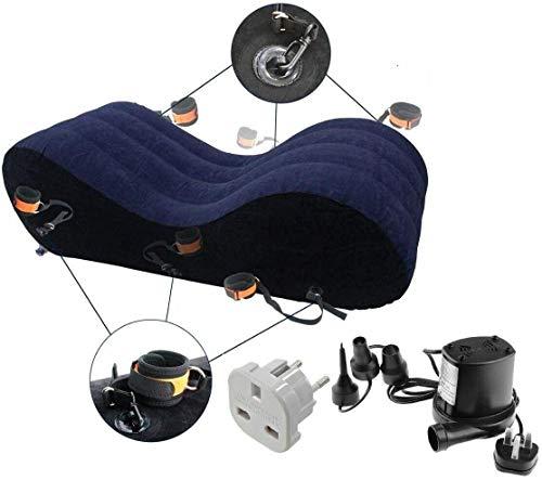 Divano tantra gonfiabile, poltrona chaise longue/relax yoga, divano coppia gonfiabile + Pompa elettrica Dimensioni 150 * 50 * 40 cm (Spina UK e Adattatore Spina UE Disponibili su Richiesta)