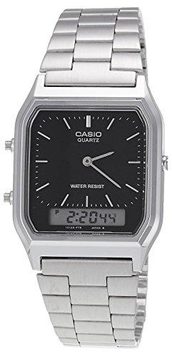 Casio Collection AQ-230A-1DMQYES Orologio Unisex, Cinturino in Acciaio Inox
