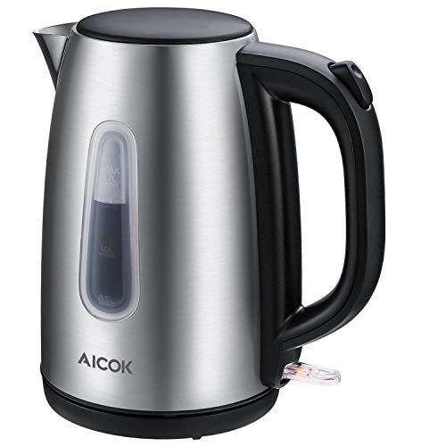 Aicok Bollitore Elettrico, 1.7L Bollitori In Acciaio Inox, Professional Strix Termostato Di...