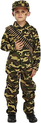 Child Army Military Camouflage Fancy Dress Costume (7-9 years) by Henbrandt