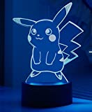 Pokemon Go Pikachu Lsxszz8 lampada da tavolo a LED, cambia 7 colori