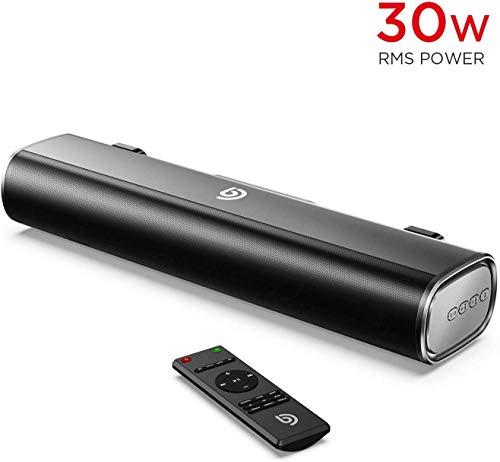BOMAKER Tapio I Mini Soundbar Bluetooth 5.0 Wireless, 16'' con DSP avanzato supporta 3 modalità EQ/...