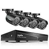 SANNCE 8CH Channel 1080N DVR CCTV Camera System Surveillance Kit w/ 4x 720P HD Outdoor Day Night Vision Fixed Bullet Cameras No HDD Hard Drive Included, HDMI Output, Easy Mobile Access