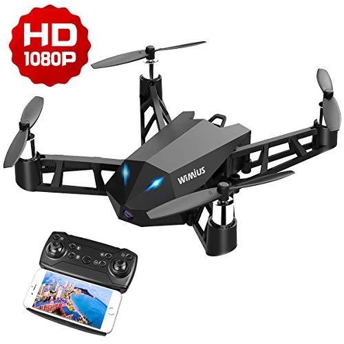 WiMiUS Drone con Telecamera, Mini Drone HD 1080p Nativo con WiFi FPV App Mobile Controllo RC...