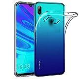 Ferilinso Funda para Huawei P Smart 2019, Ultra [Slim Thin] Resistente a los arañazos TPU Caucho Piel Suave Silicona Funda Protectora (Transparente)