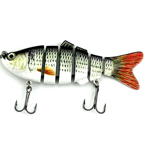 RONSHIN Lintimes Swimbaits esche da pesca 6sezioni Pike muskie richiamo per Bass Crankbait con ganci Minnow esca dura