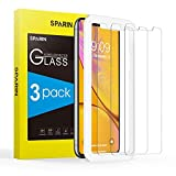 SPARIN [3-Pack] Cristal Templado iPhone XS MAX, Protector Pantalla iPhone XS MAX Vidrio Templado con [2.5d Borde Redondo] [9H Dureza] [Alta Definicion] para iPhone XS MAX