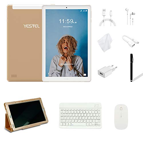 Tablet 10 Pollici YESTEL Android 8.0 Tablet PC con 3GB RAM & 32GB ROM e 4G LTE Dual SIM Call, 5.0 MP...