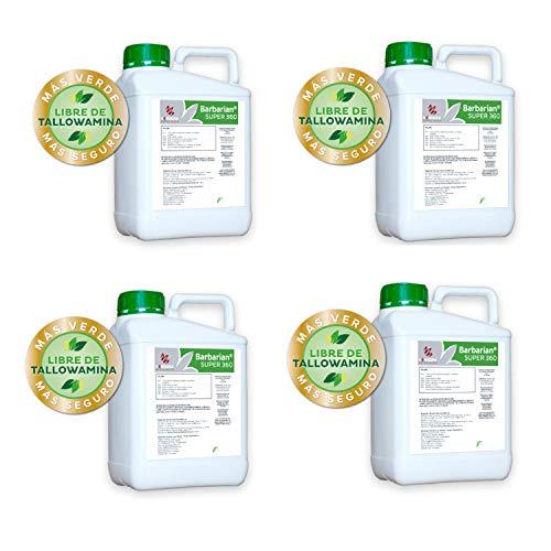 SUPER 360 Herbicida 4 x 5 litros Barbariani Maximo Control de Las Malas Hierbas Barbarian Herbicida Trata hasta 1666 m2 / m 1Lt Sin Lesion Superficial: Total absorcion 100% eficacia Envio 24horas