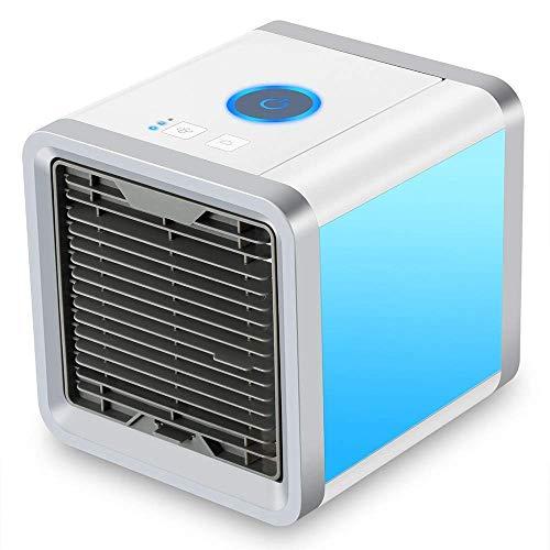 Anva Mini Portable Fresh Air Fan | 2 in 1 Conditioner Humidifier | Gear Speed Purifier Fan (White)