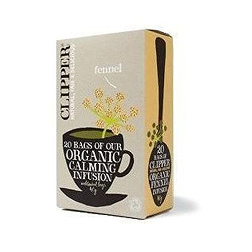 Clipper organic fennel tea (soil association) (infusions) (20 bags) (a vegetal tea with aromas of fennel) (brews in 2-5 minutes)