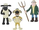 Shaun the Sheep - Set 3 Figures Shaun Bitzer Farmer ca. 7 - 9,5 cm by Comansi