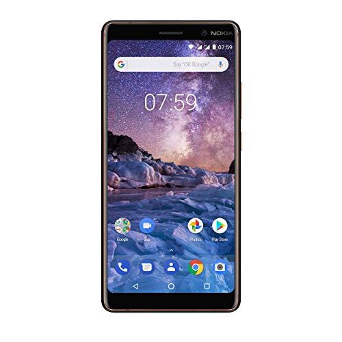 Nokia 7 Plus Handy, schwarz/kupfer