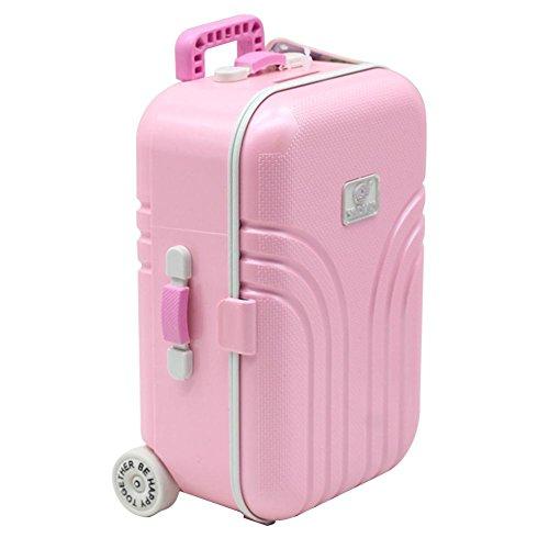 NOWAYTOSTART Fashion Doll Travel Train Suitcase Suitcase Toy Baby Suitcase Toy Cute Plastic Rolling...
