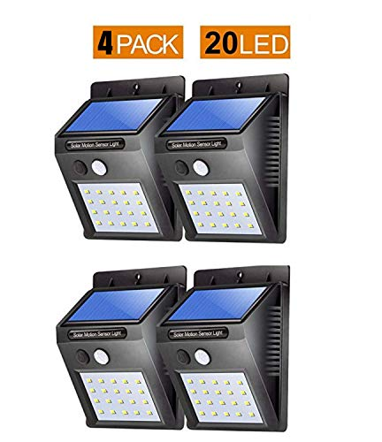 BIGSAVINGS Light-Solar Powered Cordless Outdoor Led Motion Sensor Path & Security Light Pack of 4