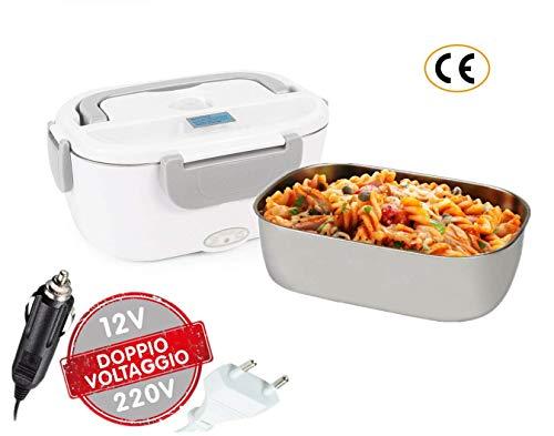 Lunch Box Elettrico 2 in 1 Contenitore elettrico Portavivande Elettrico Scaldavivande per l'ufficio,...