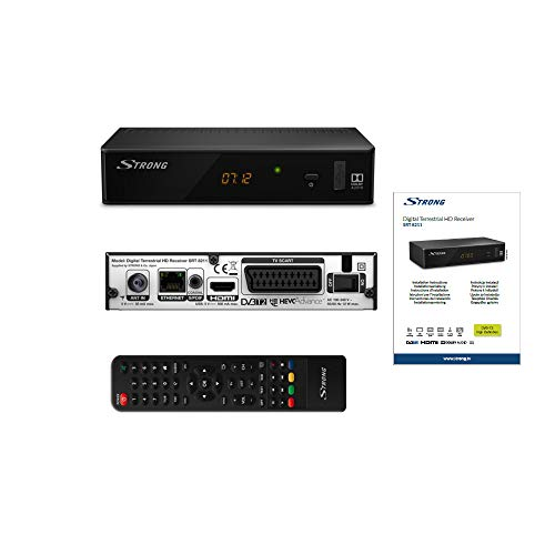 STRONG SRT 8211 digitale terrestre HD Decoder DVBT2 [HDMI, SCART, S/PDIF coassiale, Ethernet, FULL...
