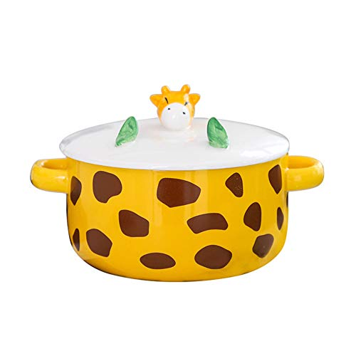 YHCIDNJ Bento Box,Ciotola Binaural in Ceramica,stoccaggio di Cibo per La Scatola del Pranzo A Prova...