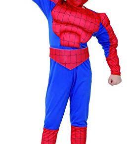 Fyasa 706079-t01muscular Spider Hero disfraz, tamaño mediano