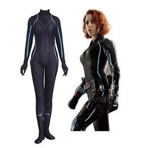 Cosplay Ropa Marvel Avengers Black Widow Cosplay Disfraz De Lycra Medias Siamesas Impresión Digital 3D Vestido Navideño Apretado De Halloween para Adultos XXXL