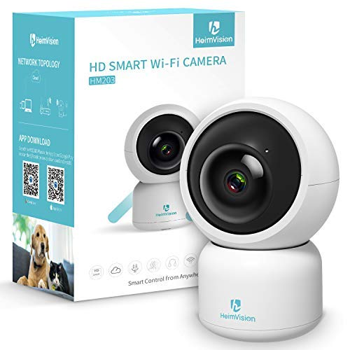 heimvision heimvision HM203 1080P Security Camera with Smart Night Vision/Ptz/Two-Way Audio, 2.4GHz Wireless Home Surveillance IP Camera for Baby/Elder/Pet/Nanny Monitor, Cloud Service/Microsd Support