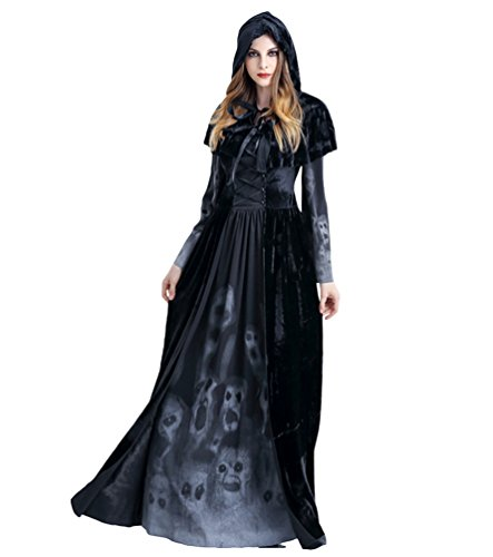 Anguang Disfraz de Bruja Mujer Cosplay Vampiresa Novia Cadaver Halloween Estilo 1 M