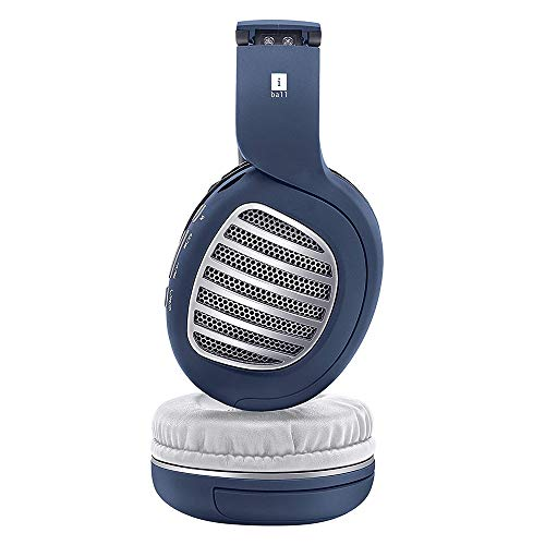 iBall Decibel BT01 Smart Headphone with Alexa Enabled - Blue, White and Silver