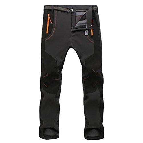 YiLianDa Pantaloni Funzionali Softshell Invernali da Uomo Slim Fit Impermeabili e Traspiranti per...