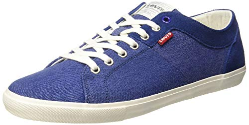 Levi's Men's Woods Blue Leather Sneakers-6 UK/India (39)(7 US) (77127-4678)