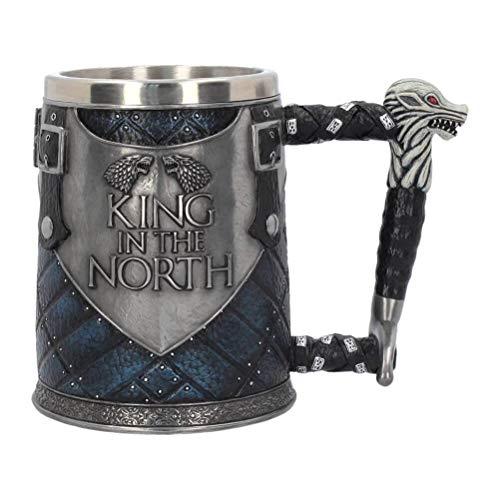 Unbekannt Nemesis Now Rey Of The North Jarra de Cerveza – Artículo de Coleccionista Big Game Of Thrones – Lobo Invierno Is Coming