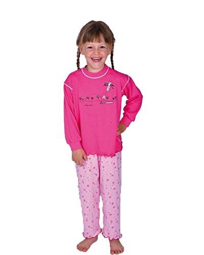 Pijamas niñas 2 Piezas Mariposa Color Rosa,Tallas 92-116 Size 104