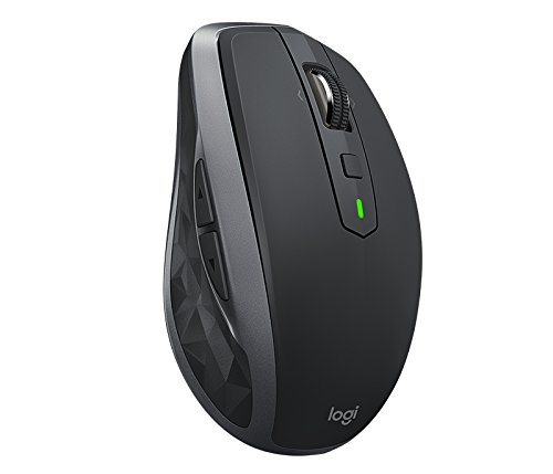 Logitech MX Anywhere 2 - Ratón (Mano Derecha, Laser, RF inalámbrica + Bluetooth, 1000 dpi, Grafito)