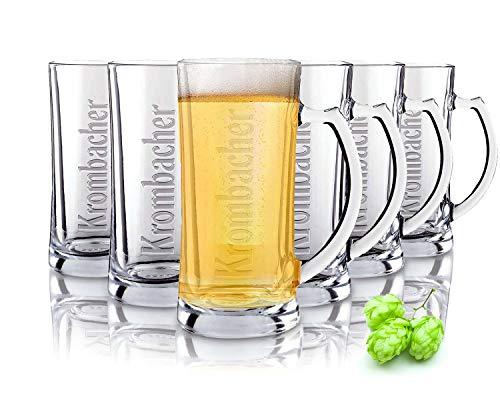 Tivoli Cologne Bicchieri per Birra - 600 ml - Set di 6 – Bicchieri di Alta qualità - Lavabili in lavastoviglie – Bicchieri di Cristallo