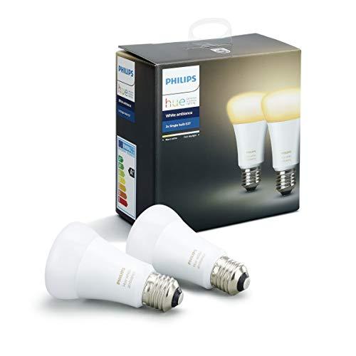 4173CebdjpL [Bon Plan Philips HUE] Philips Hue Pack de 2 ampoules connectées White Ambiance E27 - Fonctionne avec Alexa