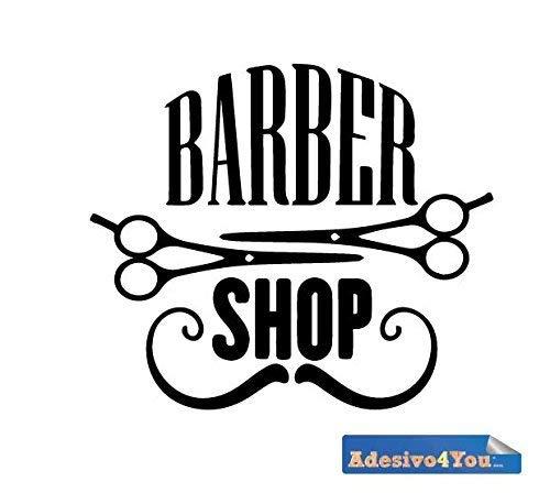Adesivo Murale scritta Barber Shop Wall sticker. Adesivo4You