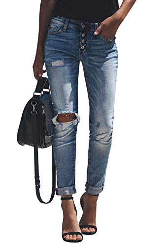 Yidarton Jeans Damen Jeanshosen Röhrenjeans Skinny Slim Fit Stretch...