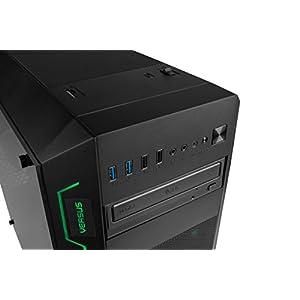 Versus PC Prime Z105 - Ordenador Gaming (procesador Intel Core i7 8ª Generación, 16 GB de Memoria RAM y Gráfica Nvidia Geforce GTX 1080, chasis Negro, iluminación LED RGB, 16.8 Millones de Colores)