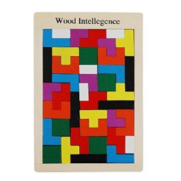 MagiDeal Tetris Bambini Montessori del Bambino del Giocattolo Puzzle di Legno