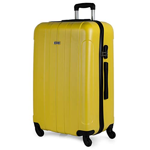 ITACA - Valigia rigida Big Travel Valigia trolley 4 ruote 75 cm ABS. Resistente e leggero Taglia XL...