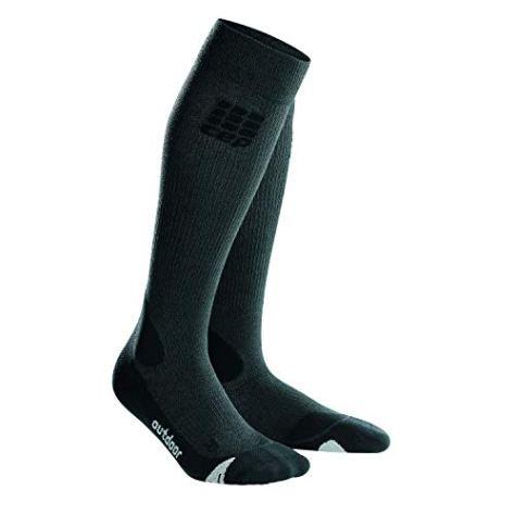 CEP - Outdoor Merino Socks, Wandersocken für Herren, Kompressionsstrümpfe Made by medi, Grey/Black, V