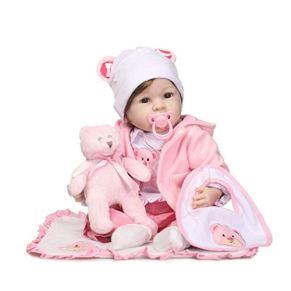 YJPDPETWJ Muñeca acompañante, muñeca Renacimiento, bebé Simulación, bebé Pesada simulado, muñeca, Chica paño Suave Regalo Material de Silicona Cuerpo